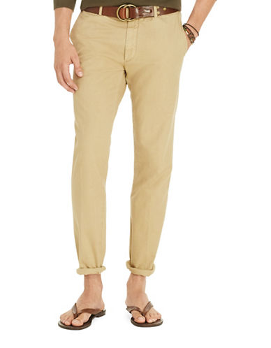 Polo Ralph Lauren Tailored Slim Fit Pima Chino Pants-LUX TAN-34X32