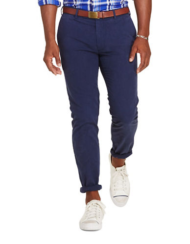 Polo Ralph Lauren Tailored Slim-Fit Pima Cotton Chino Pants-NAVY-38X34