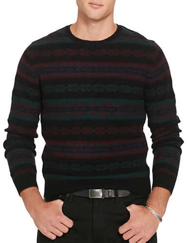 Polo Ralph Lauren Fair Isle Wool-Blend Sweater-NAVY MULTI-X-Large