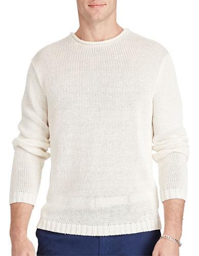 Polo Ralph Lauren Linen Roll-Neck Sweater-WHITE-Small