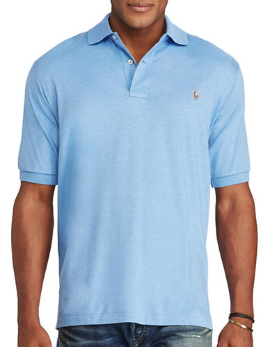 Polo Ralph Lauren Classic-Fit Cotton Polo-BLUE HEATHER-5X Tall