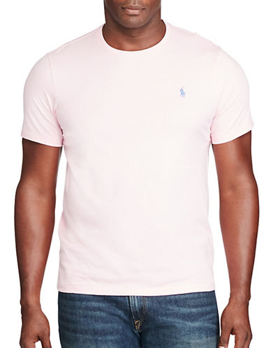 Polo Ralph Lauren Cotton Jersey Crew Neck T-Shirt-CARMEL PINK-5X Big