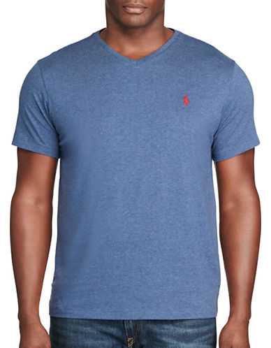 Polo Ralph Lauren Cotton Jersey V-Neck T-Shirt-RUSTIC NAVY-4X Big