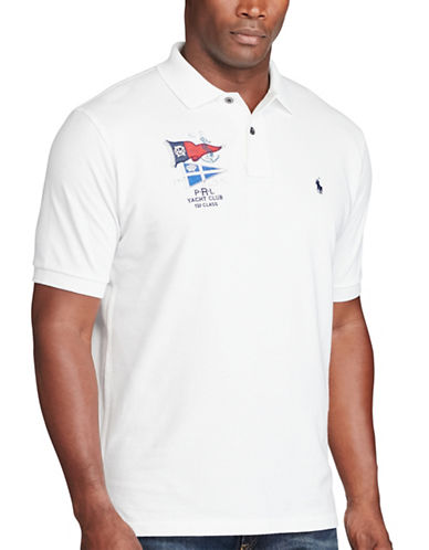 Polo Ralph Lauren Classic-Fit Cotton Mesh Polo-WHITE-5X Big