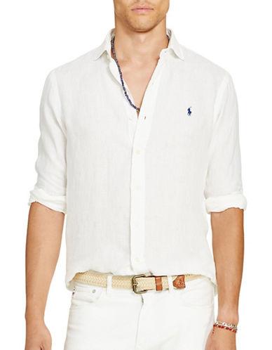 Polo Ralph Lauren Linen Sport Shirt-WHITE-Large 88685656_WHITE_Large