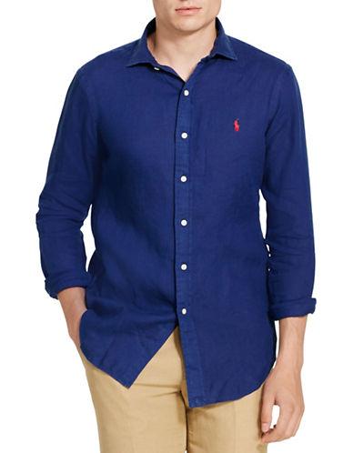Polo Ralph Lauren Linen Sport Shirt-NAVY-Medium 88685664_NAVY_Medium