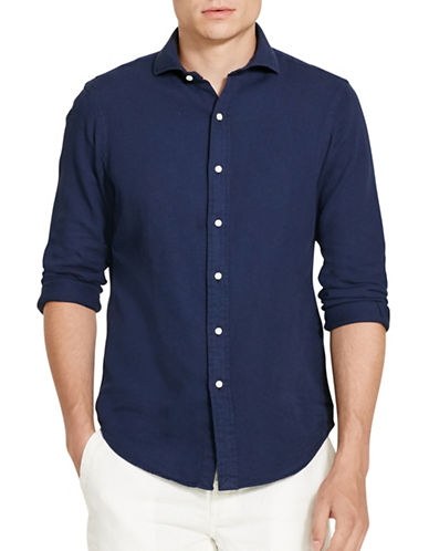 Polo Ralph Lauren Cotton Pique Sport Shirt-NAVY-X-Large 88697473_NAVY_X-Large