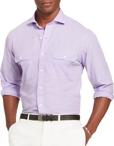 Polo Ralph Lauren Cotton Poplin Shirt-PURPLE-Small