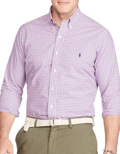 Polo Ralph Lauren Checked Cotton Poplin Shirt-NAVY/PINK-5X Tall