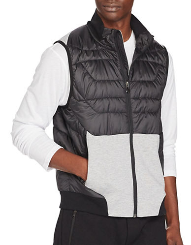 Polo Sport Paneled Full-Zip Vest-POLO BLACK-Large