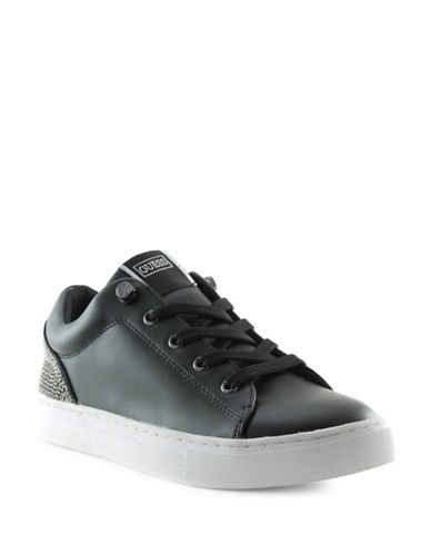 Guess Jollie Quilted Sneakers-BLACK-9.5
