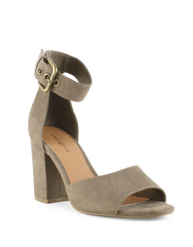 Indigo Rd Zoe Faux Suede High-Heel Sandals-MINK-9.5