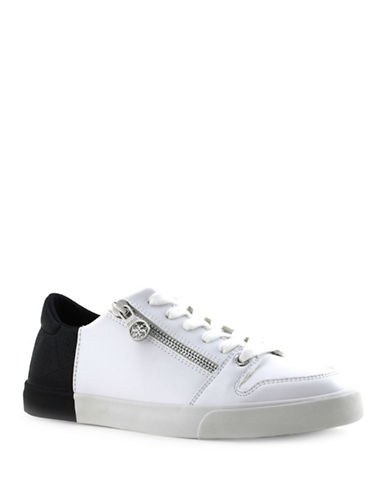 Guess Manika Lace-Up Sneakers-BLACK-10