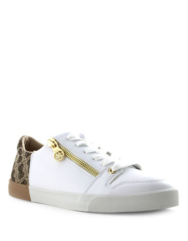 Guess Manika Lace-Up Sneakers-BEIGE-6