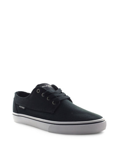 Tommy Hilfiger Payton-A Canvas Lace-Up Sneakers-BLACK-9
