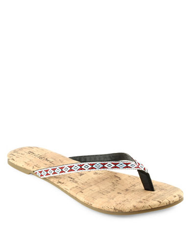 Indigo Rd Bavin Multicolour Flat Sandals-RED-10