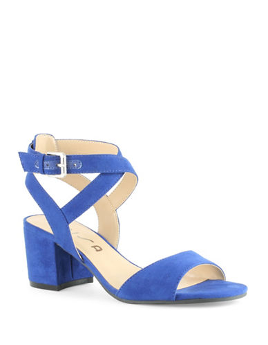 Unisa Elty Block Heel Sandals-DARK ROYAL-9