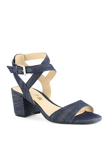 Unisa Elty Block Heel Sandals-DARK BLUE-9