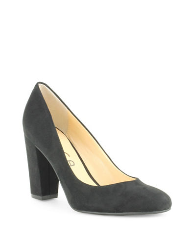 Unisa Pamina Faux Suede Pumps-BLACK-6
