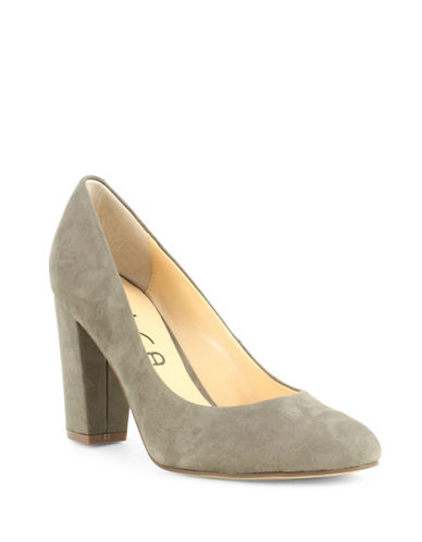 Unisa Pamina Faux Suede Pumps-GREY-6