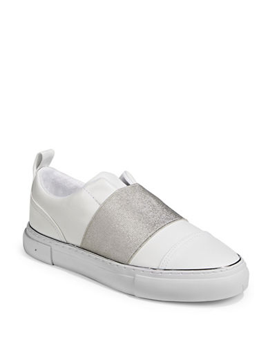 Guess Gearup Slip-On Sneakers-WHITE/SILVER-7.5