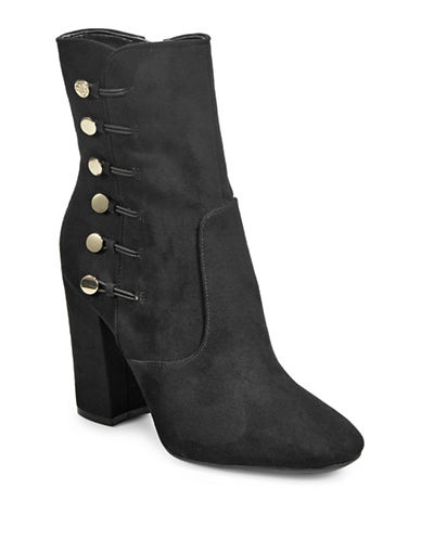 Guess Lucena Suede Booties-BLACK-7