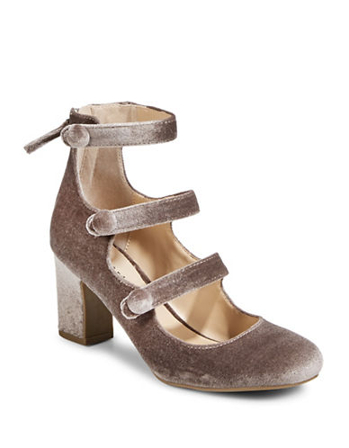 Indigo Rd Taupe Three-Strap Pumps-BROWN-8.5