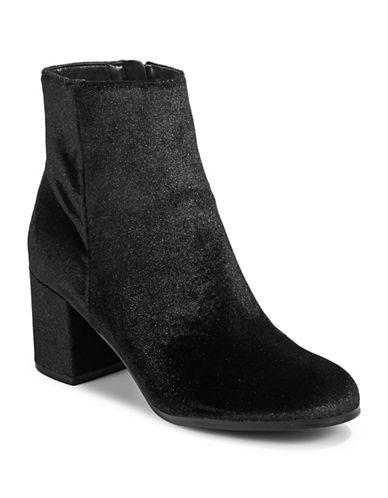 Indigo Rd Crusona Velvet Ankle Boots-BLACK-9.5