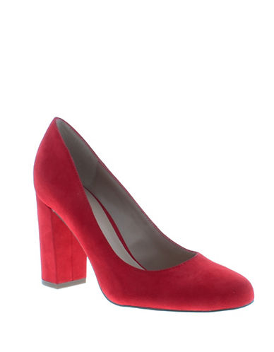 Indigo Rd Fraser Faux Suede Pumps-RED-9.5