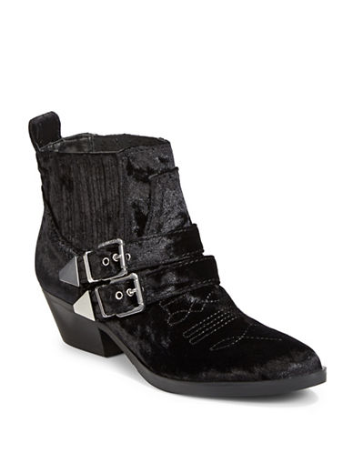 Guess Violla Velvet Booties-BLACK-9.5
