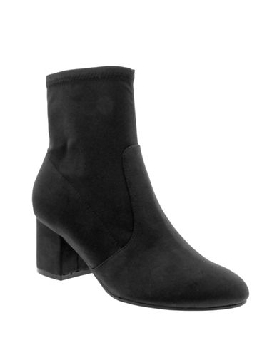 Unisa Myllo Satin Booties-BLACK-9.5