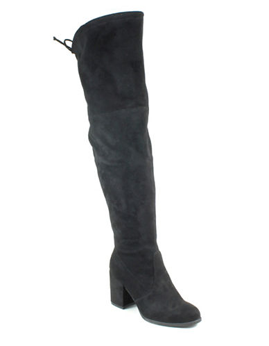 Unisa Dedrii Over-the-Knee Boots-BLACK-8