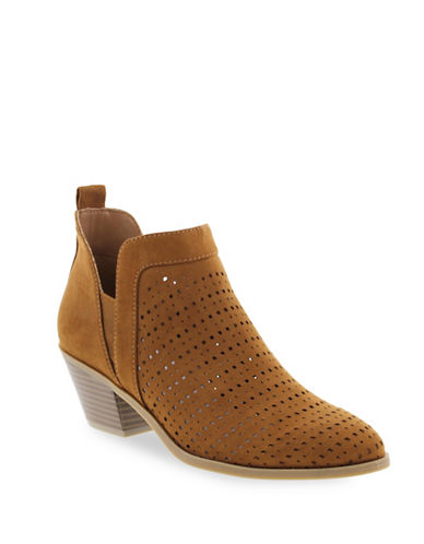 Indigo Rd Bonnie Perforated Booties-COGNAC-7.5