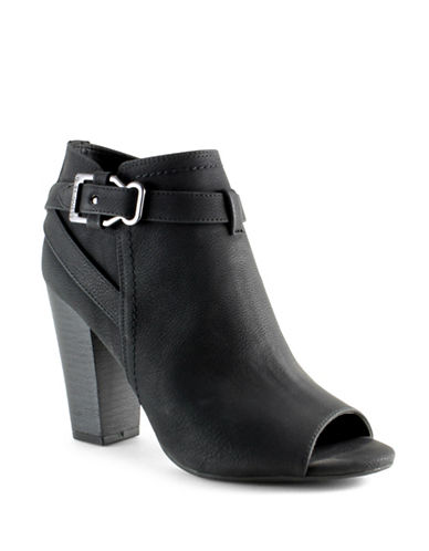 G By Guess Wrap Buckle Ankle Boots-BLACK-10