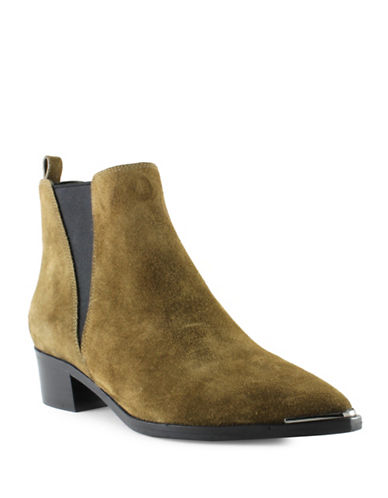 Marc Fisher V-Gored Suede Boots-GREEN-7
