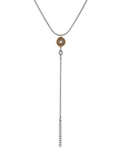Lucky Brand Dual Tone Delicate Y-Necklace-GOLD-One Size