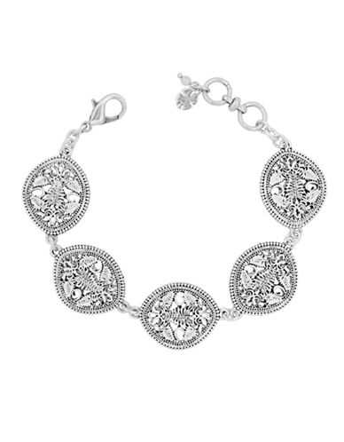 Lucky Brand Openwork Link Bracelet-SILVER-One Size