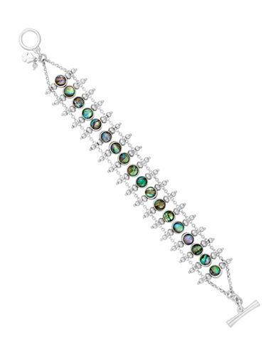 Lucky Brand Key Item Abalone Ladder Bracelet-GREEN-One Size