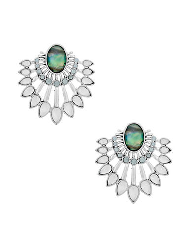 Lucky Brand Ethereal Coasts Stone Chandelier Drama Earrings-GREEN-One Size