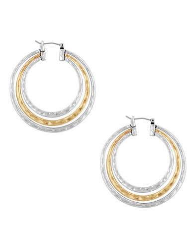 Lucky Brand Ethereal Coasts Two-Tone Hoop Earrings-TWO TONE-One Size