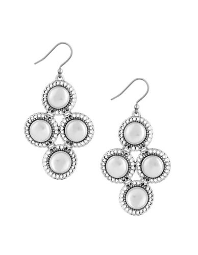 Lucky Brand Ethereal Coasts Faux Pearl Chandelier Earring-SILVER-One Size