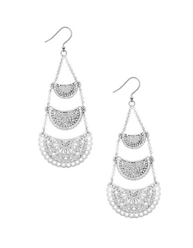Lucky Brand Ethereal Coasts Openwork Chandelier Earrings-SILVER-One Size