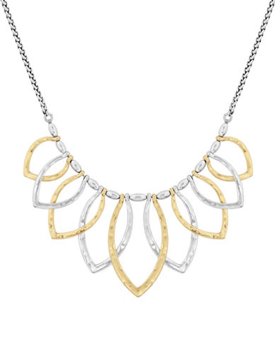 Lucky Brand Semi-Precious Petal Collar Necklace-TWO TONE-One Size