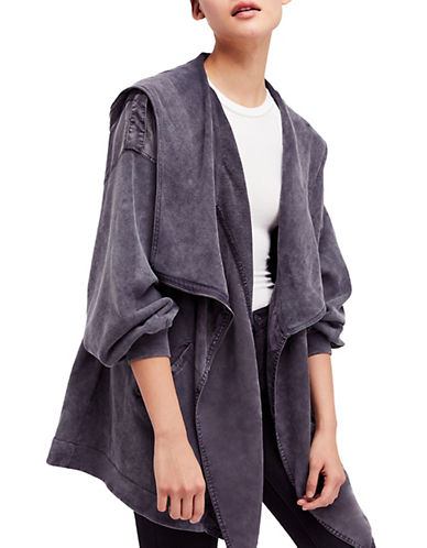 Free People Oversized Cmon Cotton Cardigan-GREY-Medium 90061365_GREY_Medium