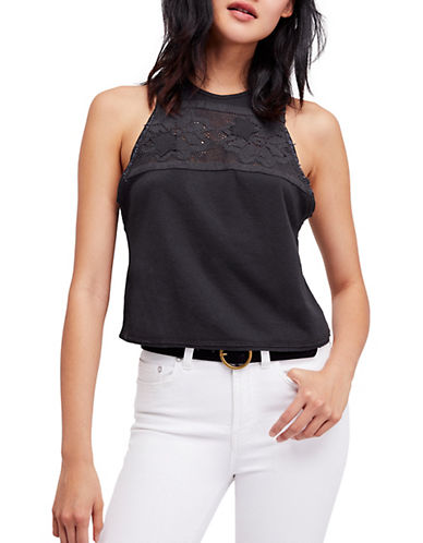 Free People Window Tank Top-DARK GREY-Medium 90061387_DARK GREY_Medium