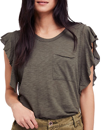 Free People So Easy Tee-GREEN-Medium 90061471_GREEN_Medium