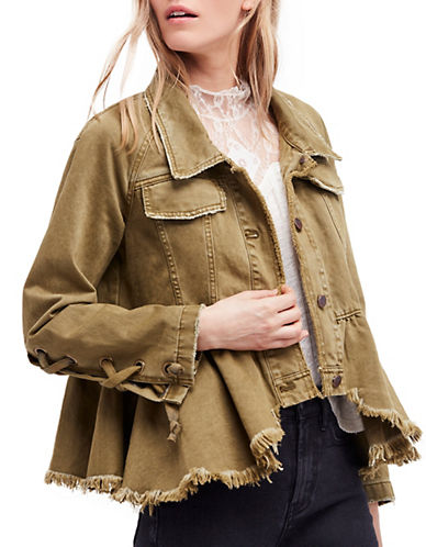 Willow Denim Military Jacket by Free People