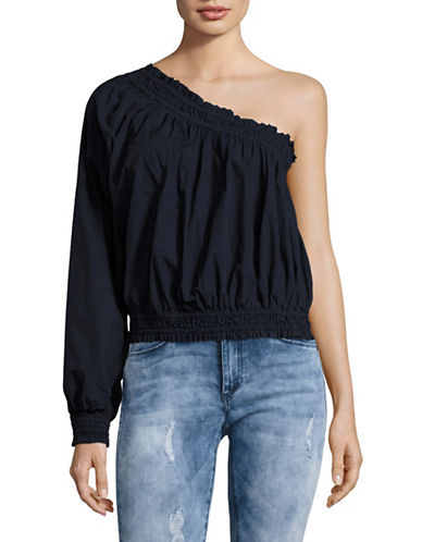 Free People Anabelle Asymmetrical Top-BLUE-X-Small