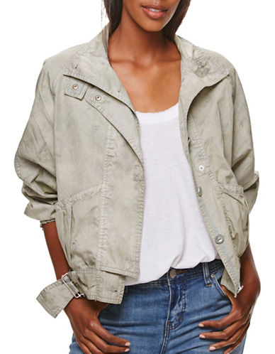 Free People Parachute Boxy Jacket-GREEN-X-Small 89014900_GREEN_X-Small