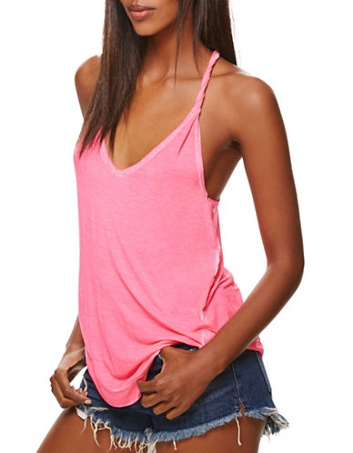 Free People Relaxed Racerback Tank-PINK-Small 89014972_PINK_Small